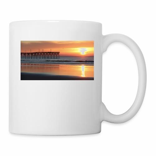 fall sunset on the beach - Coffee/Tea Mug