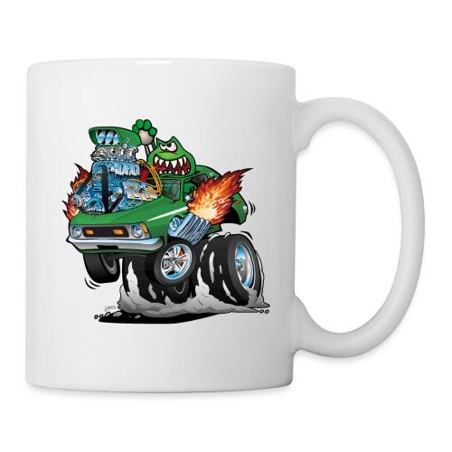Seventies Green Hot Rod Funny Car Cartoon - Coffee/Tea Mug