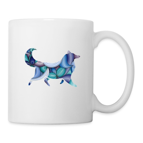 Psychedelic Collie - Coffee/Tea Mug