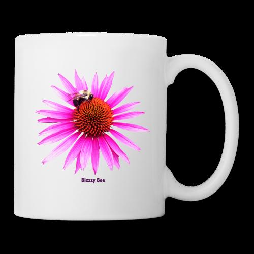 Bee on a pink - orange flower - Coffee/Tea Mug