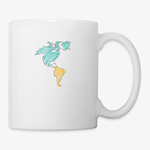 Pencil Crayon Map - Coffee/Tea Mug