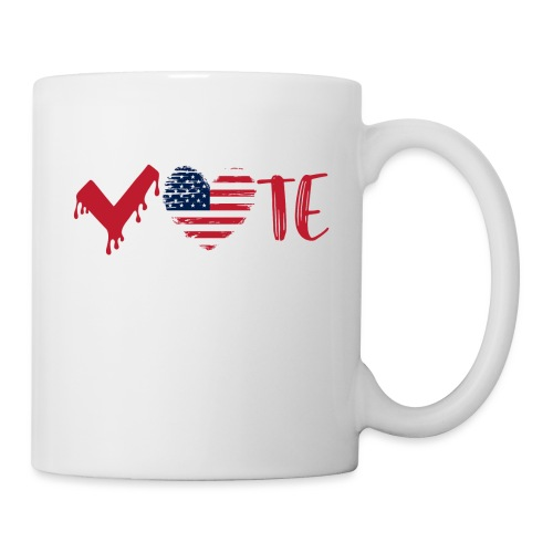 vote heart red - Coffee/Tea Mug