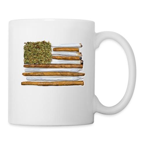 American Flag With Joint - Coffee/Tea Mug