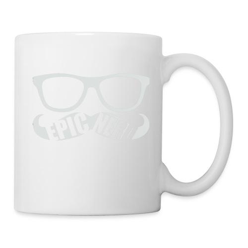 White Epic Nerd Logo - Coffee/Tea Mug