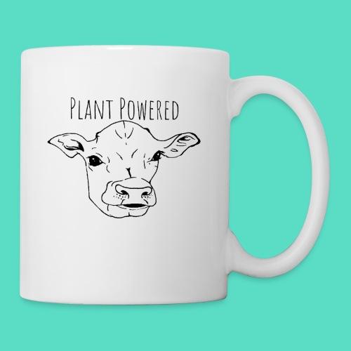 """Plant Powered"" Vegan Cow Print - Coffee/Tea Mug"