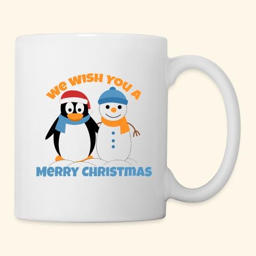 santa penguin with snowman christmas - Coffee/Tea Mug