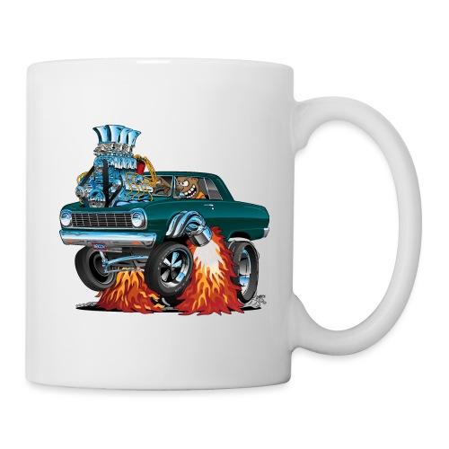 Sixties American Classic Muscle Car Cartoon - Coffee/Tea Mug