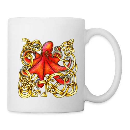 Octopus - Red & Gold - Coffee/Tea Mug