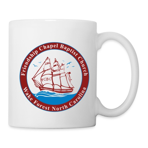 ship art burgundy blue 3 - Coffee/Tea Mug