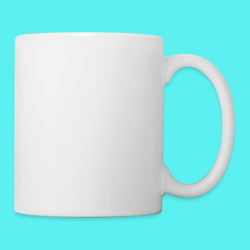 white logo text - Coffee/Tea Mug