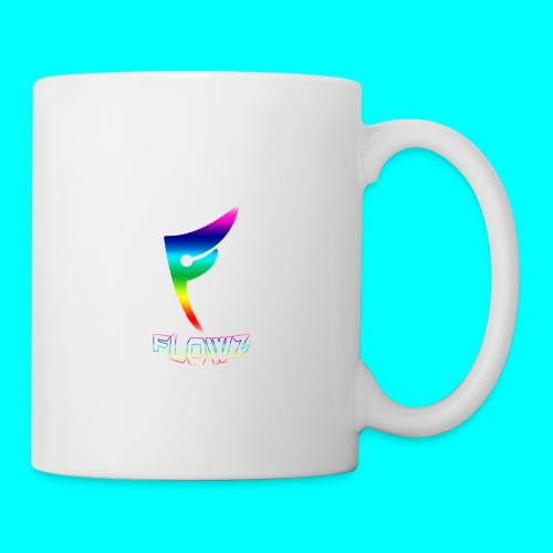 Multi-Colour Flowz Logo With Text - Coffee/Tea Mug