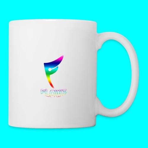 Multi-Colour Flowz Logo With Text - Coffee/Tea Mug