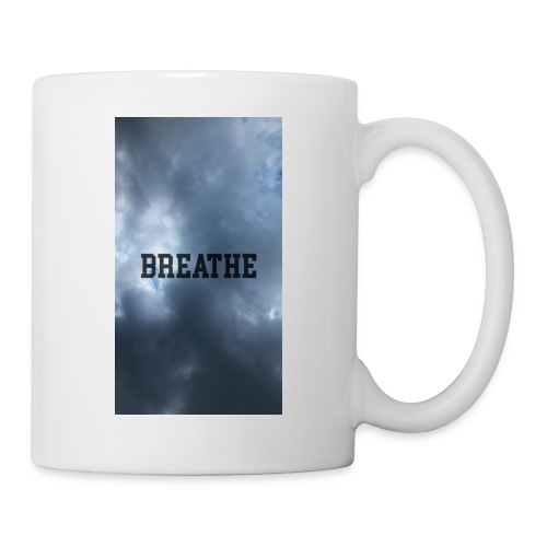Clouds with Breathe text - Coffee/Tea Mug