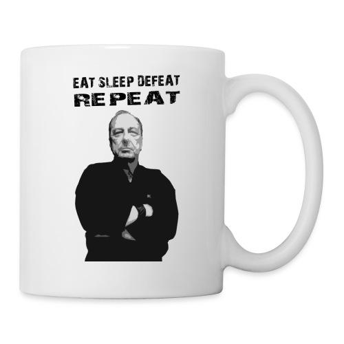 Eat. Sleep. Defeat. Repeat - Master Ernie T - Coffee/Tea Mug