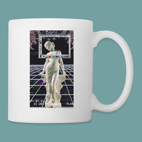 Vaporwave Glitch Microsoft Statue - Coffee/Tea Mug
