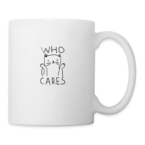 who cares - Coffee/Tea Mug