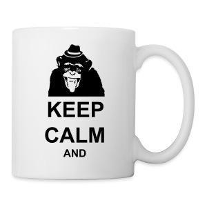 KEEP CALM MONKEY CUSTOM TEXT - Coffee/Tea Mug