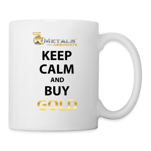 keep calm buy gold small logo - Coffee/Tea Mug