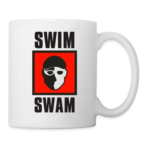 SwimSwam Square on White - Coffee/Tea Mug