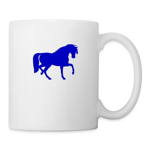 blue horse hoodie - Coffee/Tea Mug