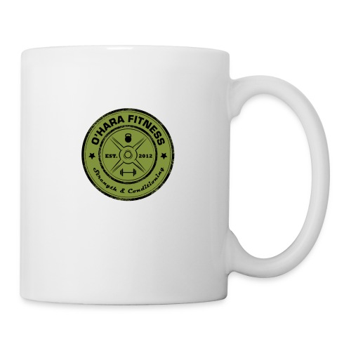 White Mug Green logo - Coffee/Tea Mug