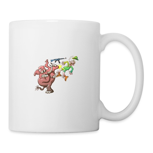 Hunter's Teeth instead of Elephant's Tusks - Coffee/Tea Mug