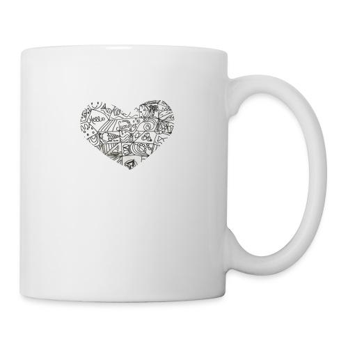 Summer Heart Doodle Art Design - Coffee/Tea Mug