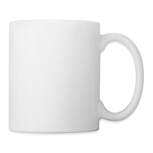 White Cross for Back of Shirt - Coffee/Tea Mug