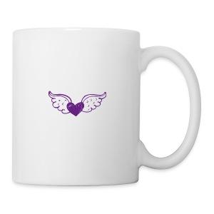 Hannie purple heart with wings - Coffee/Tea Mug