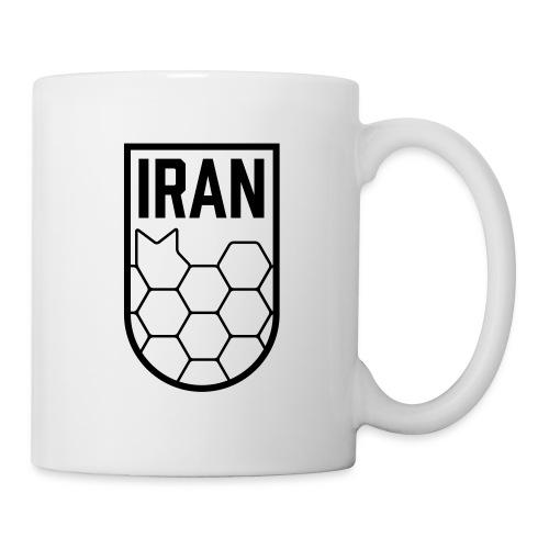 Geometric Iran Soccer Badge - Coffee/Tea Mug