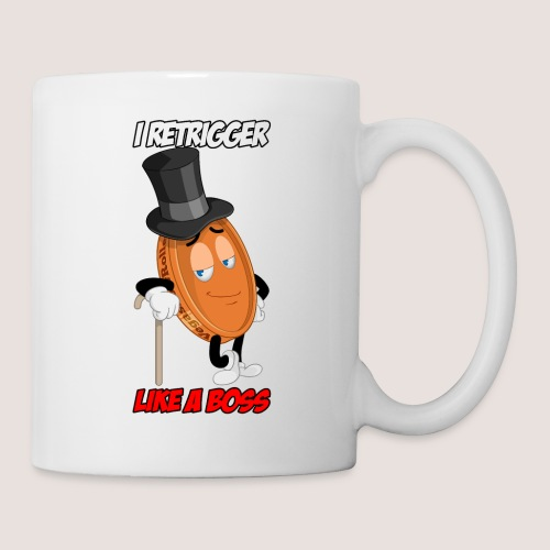 THE RETRIGGER PENNY WITH TEXT - Coffee/Tea Mug