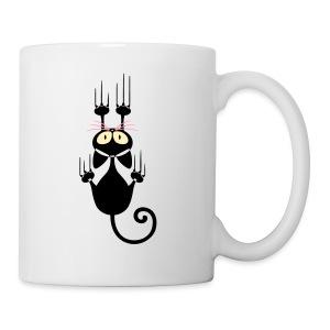 Funny Pets - Scratching Cat - Coffee/Tea Mug