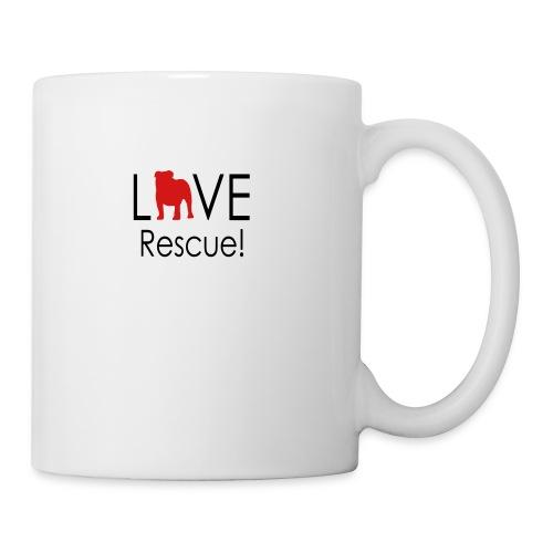 Love Rescue English Bulldog - Coffee/Tea Mug