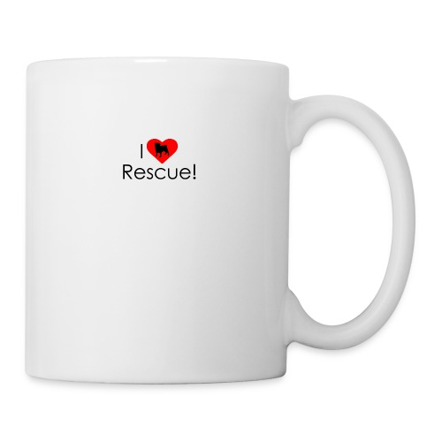 I Heart Rescue Pug - Coffee/Tea Mug