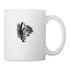 dj d3mon king wolfmutt logo - Coffee/Tea Mug