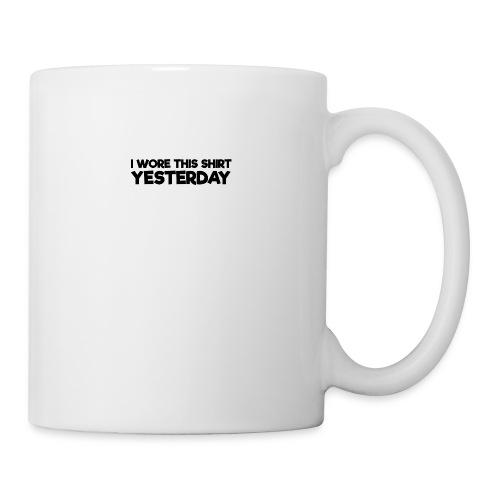 Funny Parodox: I Wore This Shirt Yesterday - Coffee/Tea Mug