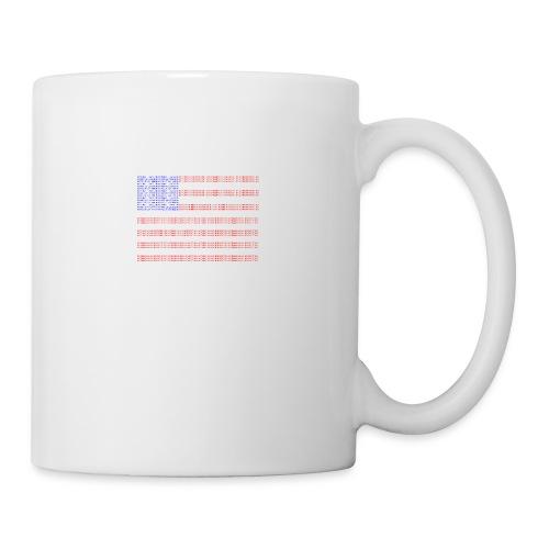 no trump no kkk USA flag - Coffee/Tea Mug