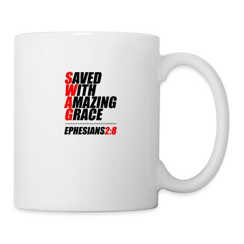 SWAG: Saved With Amazing Grace Christian Shirt - Coffee/Tea Mug