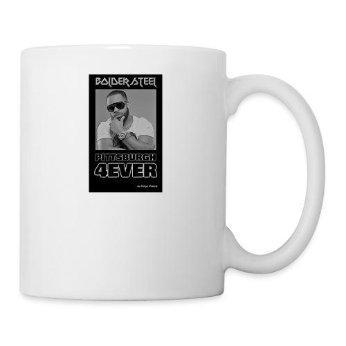 BOLDER STEEL PITTSBURGH 4EVER BLACK WHITE - Coffee/Tea Mug