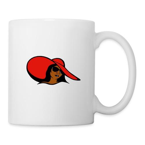 no word woman with hat - Coffee/Tea Mug