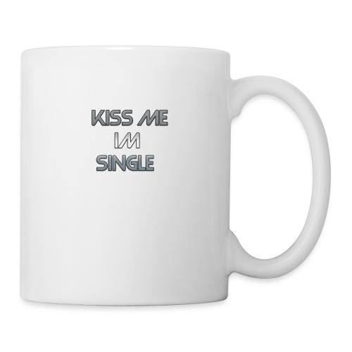Cool Text kiss me im single - Coffee/Tea Mug