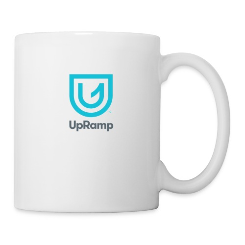UpRamp Logo Blue Stacked ColorWhite - Coffee/Tea Mug