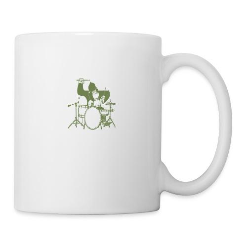 GORILLA PLAYING ON DRUMS - Coffee/Tea Mug