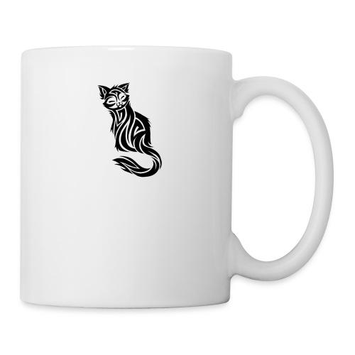 elegant-cat-with-bird-tattoo-design-5 - Coffee/Tea Mug