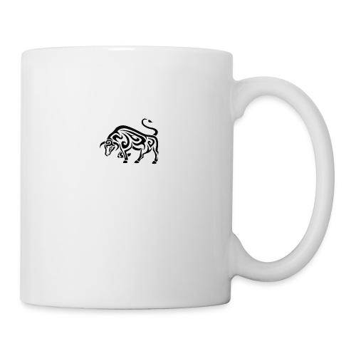 tribal cool running bull taurus tattoo design - Coffee/Tea Mug