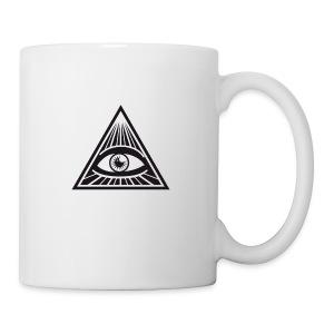 illuminati All Seeing Eye Food Humor Fun pyramid - Coffee/Tea Mug