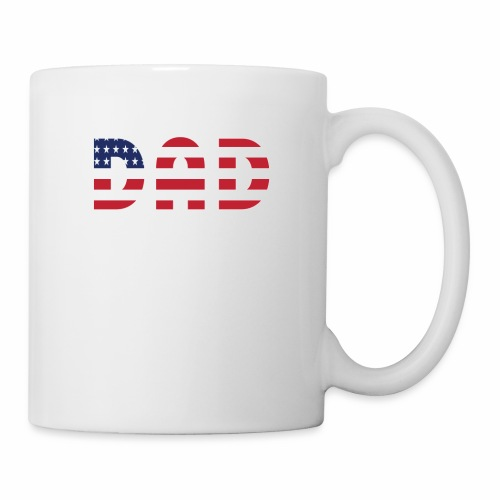 DAD + US Flag - Coffee/Tea Mug