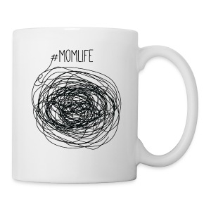 #Momlife MomLife Outfit - Scratch Art Design - Coffee/Tea Mug