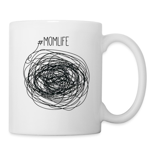 #Momlife MomLife Outfit - Scratch Art Design - Coffee/Tea Mug