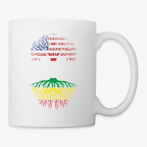 American Grown With African Roots T-Shirt - Coffee/Tea Mug
